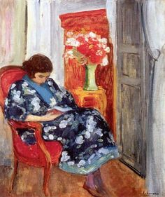 Young Woman Reading by Henri Labasque (1920)