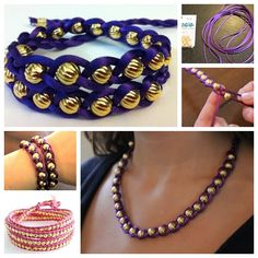 Wonderful DIY Braided Bracelet With Bead | WonderfulDIY.com