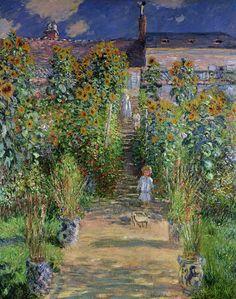 Claude Monet's painting of a garden shows the 3D aspect of a Vertical Organic Garden