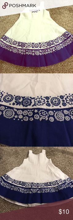 Children's Place Blue and White Lined Sundress Children's Place Blue and White Lined Sundress. 3T Children's Place Dresses