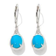 Heritage Gems Sleeping Beauty Turquoise Drop Earrings