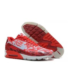Nike Air Max 90 Ice Laser Crimson Womens Red White Trainer