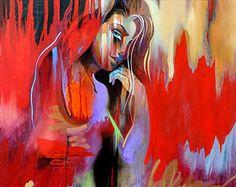 Figures • Abstract Figure Art • Modern Figure Painting Reproduction • Majal • Nude Art Print