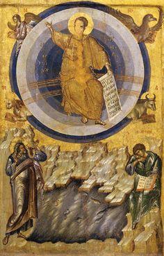 Чудото на Христос в Латом (The Miracle Of Christ At Latom). Икона от 1395 г. от Погановския манастир, Poganovo, Serbia