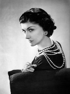 """Coco Chanel circa 1936.  Gabrielle """"Coco"""" Chanel once said, """"Fashion is ephemeral, but style is eternal."""""""