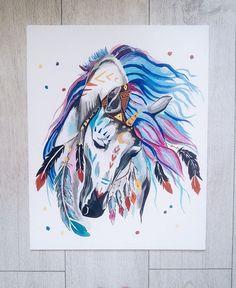 """Картина """"Единорог"""", 40*50 см, акриловые краски"""