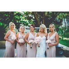 Bridesmaids in our Bridgette Dress #whiterunway #realrunway #wedding