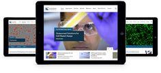 Responsive website mockup for global biotech company. #webdesign #marketing #design #biotech