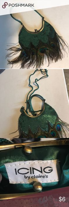Purse Peacock feather purse Icing Bags Clutches & Wristlets