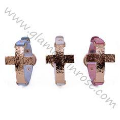 Bracciale con Croce dorata | Glamour in Rose