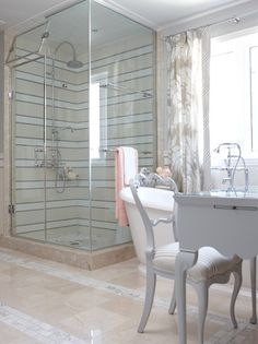 A Soothing Spot - apricot inspired neutral master bathroom - Sarah Richardson designs