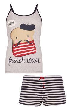 Primark - Pyjamaset met leuk topje en shortje Lingerie, Sleepwear & Loungewear - http://amzn.to/2ij6tqw
