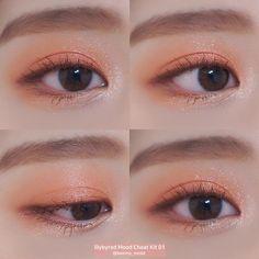 Makeup Trends, Makeup Inspo, Makeup Inspiration, Beauty Makeup, Hair Makeup, Korean Makeup Look, Asian Makeup, Coral Makeup, Korean Makeup Tutorials