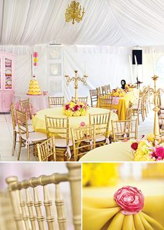 Tema de festa: A Bela e a Fera! Beauty and the Beast Theme Party!