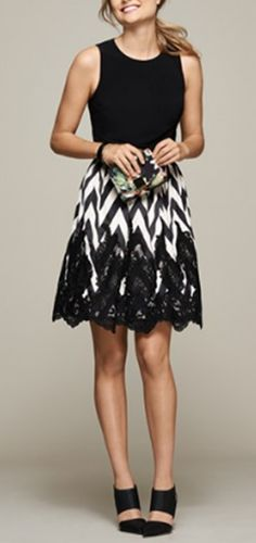 Chevron & lace. LOVE this style!