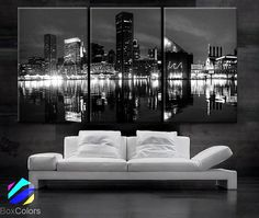 LARGE 30x 60 3 Panels Art Canvas Print Beautiful by BoxColors
