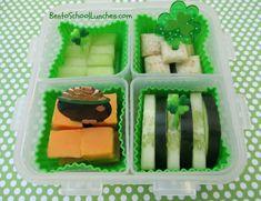 St. Patrick's Day Go Green bento snack www.facebook.com/BentoSchoolLunches