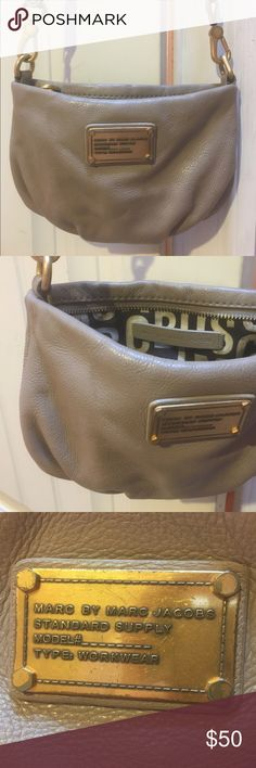 Marc by Marc Jacobs Cross-body Bag Tan/beige leather. Great shape. Small, yet somehow fits everything you need! Marc by Marc Jacobs Bags Crossbody Bags