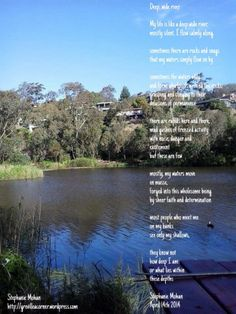 Deep wide river - reflective poetry and photography