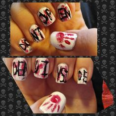 My The Walking Dead nails :)