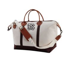 MONOGRAMMED LARGE CANVAS duffle by GameDayGirlsandGifts on Etsy, $90.00