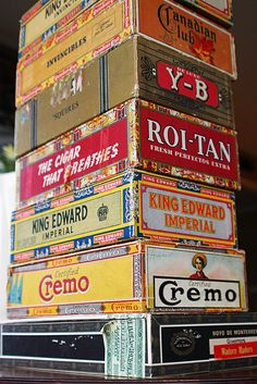Mamie Jane's: Cigar Box Lid Display