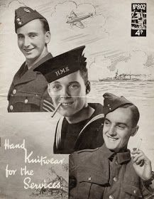 1940's Style For You: Free Knitting Pattern - WW2 services woollies - Lavenda 802