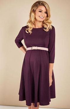 Sienna Maternity Dress Claret - Maternity Wedding Dresses, Evening Wear and Party Clothes by Tiffany Rose UK