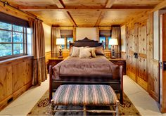 A collection of interior designs featuring 19 Magical Rustic Bedroom Interior Designs That Will Relax You. Western Bedroom Decor, Rustic Western Decor, Bedroom Rustic, Rustic Nursery, Rustic Outdoor, Rustic House Plans, Rustic Restaurant, Restaurant Drinks, Rustic Apartment