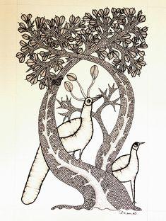 Gond Art from Madhya Pradesh by The India Craft House India Crafts, Home Crafts, Tribal Community, Madhubani Painting, Aboriginal Art, Acrylic Colors, Tribal Art, Art Forms, Folk Art
