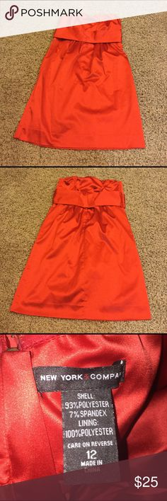 New York and Company dress size 12 New York and Company silk red strapless dress size 12. Smoke free home and dog mom. New York & Company Dresses