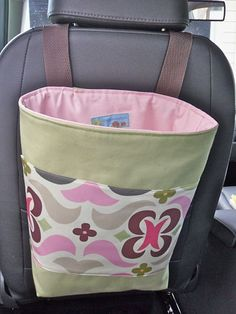 Car Toy Organizer Green Pink by LittleSproutBaby on Etsy by ModLux
