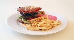 Hovězí burger v zeleninových plackách