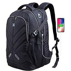 Buy Backpack for Men and Women Fit 17 Inches All Inches Laptops Waterproof Shockproof OUTJOY School Bag Travel Laptop Backpack Book Bag Business Work Daypack with USB Charging Port Black Computer Backpack, Computer Bags, Travel Backpack, Travel Bags, Waterproof School Backpack, Laptop Rucksack, Backpack Reviews, Usb, School