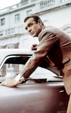 Braving the Scottish winters? Try Sean Connery's brown wool coat with two side pockets on for size. Matching Asten Martin not included.