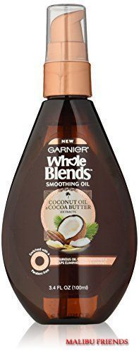 Garnier Whole Blends Smoothing Oil Coconut Oil Cocoa Butter Extracts #Garnier