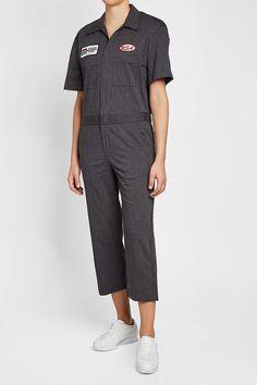 R 13 Mechanic Cotton Jumpsuit Cotton Jumpsuit, Grey Fashion, Grey Style, Shopping, Dresses, Women, Clothing, Vestidos, Dress