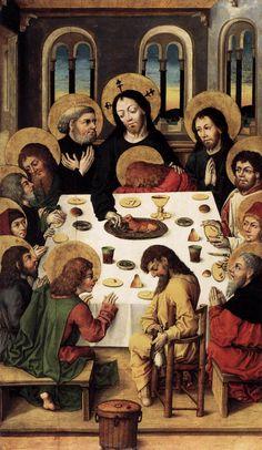 Leonardo da Vinci, Ultima Cena , copia del XVI sec., Museo Da Vinci, Tongerlo Leonardo da Vinci, Ultima Cena , 1498, Convento di Santa Maria delle