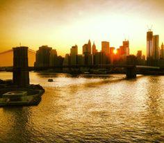 Sunset from the Manhattan Bridge