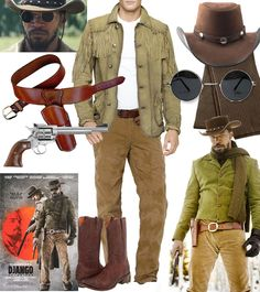 django unchained jamie foxx western outfit