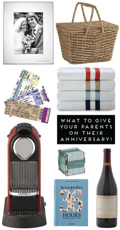 eight anniversary gifts for parents {or friends} for all budgets!