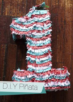 Cute DIY Pinata. Now we just need a little one...or throw ourselves a party with a pinata!