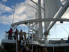 Visitando o Navio Wind Spirit