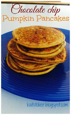 Quick and easy, 21 day fix approved, Chocolate chip pumpkin pancakes Fit For Me: First Day of School 21 Day Fix Breakfast, School Breakfast, Clean Recipes, Healthy Recipes, Clean Meals, Healthy Food, Healthy Eating, Pumpkin Pancakes Easy, Chocolate Chip Pancakes