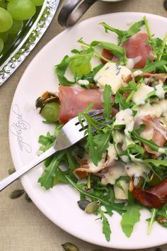 sałatka z szynka parmenska Appetizer Recipes, Salad Recipes, Diet Recipes, Cooking Recipes, Healthy Recipes, Fast Healthy Meals, Healthy Eating, Ensalada Thai, Bistro Food