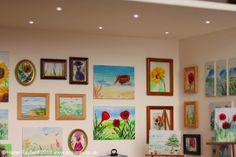 Tutorial: Installing LED Spotlights in a room box   - - -  Finished art gallery with LED spotlights