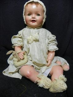 Vintage 29 inch composition doll.
