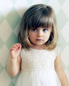 Baby Girl Haircuts, Little Girl Short Haircuts, Baby Haircut, Bob Haircut For Girls, Toddler Haircuts, Short Haircuts With Bangs, First Haircut, Little Girl Hairstyles, Hairstyles With Bangs