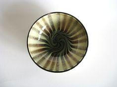 H.A. Kahler Small Bowl Danish Mid Century Modern Vintage Scandinavian Pottery Swirl