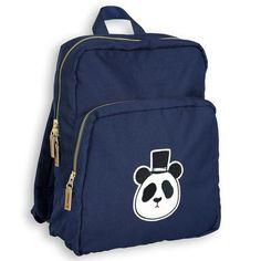 Dark Blue Panda Backpack by Mini Rodini - Junior Edition  - 1